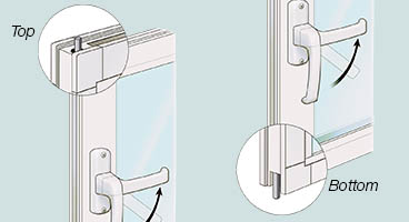 Four Season Vinyl Sunroom Locking System