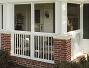 Patio Enclosures Exclusive Railing System for Sunrooms and Screen Rooms
