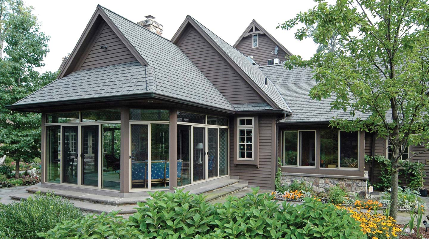 Pictures of sunrooms with existing roofs patio enclosures for Porch sunroom