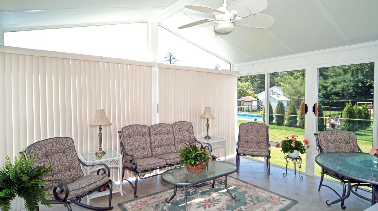 Sunroom Accessories Custom Blinds Shades Patio Enclosures