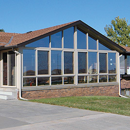 Four Season Sunroom Aluminum Sandstone Frame