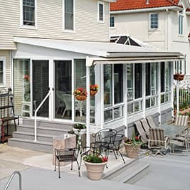 four-season-sunroom single slope roof