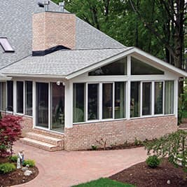 Four Season Sunroom Aluminum White Frame