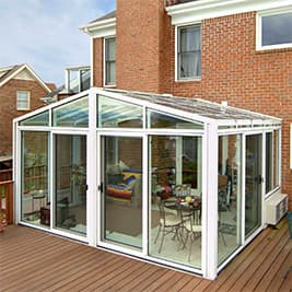 solarium sunroom gable roof