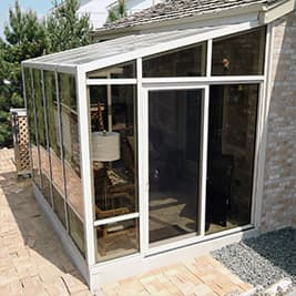 solarium sunroom single slope roof