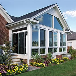 sunroom custom wood roof