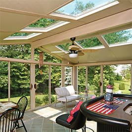 sunroom glass roof panels