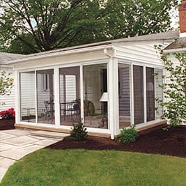 sunroom single slope roof