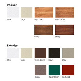 Window and Door Color Options