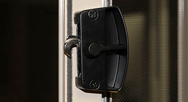 Screen Room Door Handles and Locking System